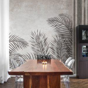 Palms im Esszimmer - Palmen Tapeten Muster Design Wallcovering