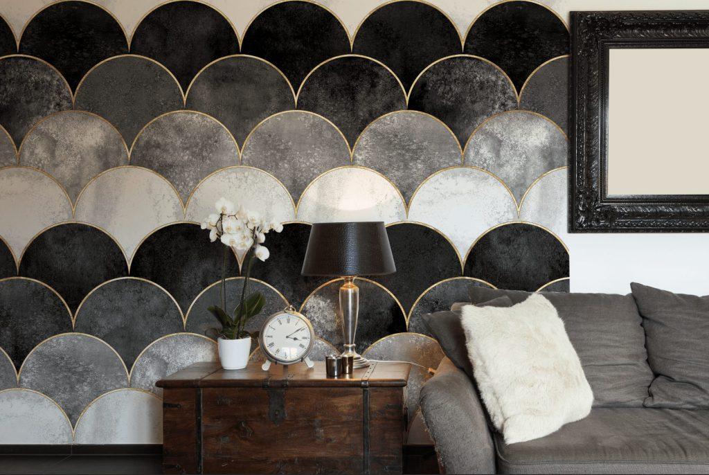 waves - Tapeten Muster Design Wallcovering