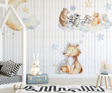 tapeten kinder mia the fox syndikat4 german wallcovering