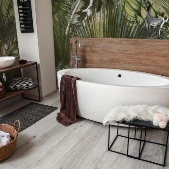 Interior of modern comfortable bathroom